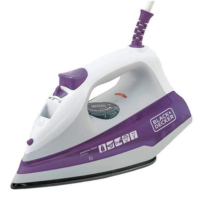Ferro de Passar a Vapor Black + Decker Essential Steam, 1200W, 220V, Roxo - FX1000-B2