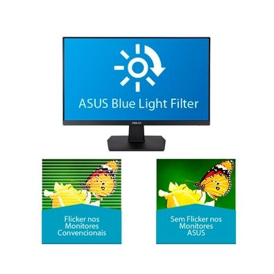 Monitor Asus Eye Care, LED, 23.8´, Widescreen, Full HD, IPS, HDMI, DVI-D - VA24EHE