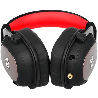 Headset Gamer Redragon Zeus H510, 7.1 Som Surround, Drivers 53mm, Preto/Vermelho - H510-1