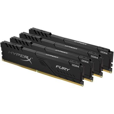 Memória HyperX Fury, 64GB (4x16GB), 3600MHz, DDR4, CL17, Preto - HX436C17FB3K4/64