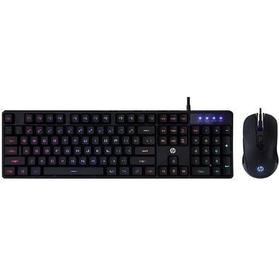 Kit Gamer HP KM200- Teclado, RGB, ABNT2 + Mouse RGB - 7JH33AA#AC4