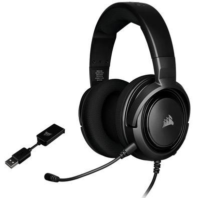 Headset Gamer Corsair HS45 USB/P2, Surround 7.1, Drivers 50mm, Carbono - CA-9011220-NA