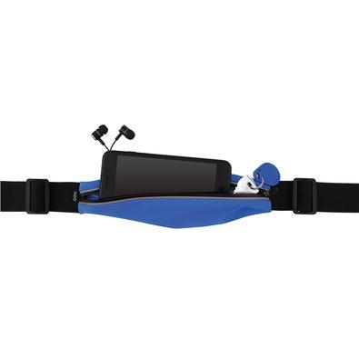 Pochete OEX Sport Fit, Ajustável, Preto/Azul - PO100