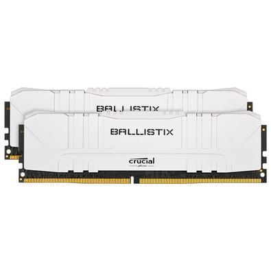 Memória Crucial Ballistix Sport LT, 32GB (2X16), 3200MHz, DDR4, CL16, Branca - BL2K16G32C16U4W