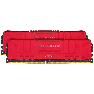 Memória Crucial Ballistix Sport LT, 32GB (2X16), 3200MHz, DDR4, CL16, Vermelha - BL2K16G32C16U4R