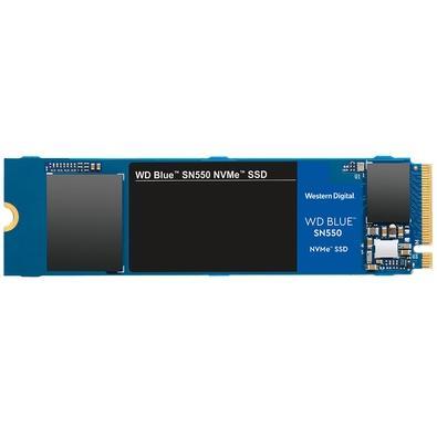 SSD WD Blue SN550, 250GB, M.2, PCIe, NVMe, Leituras: 2400Mb/s e Gravações: 950Mb/s - WDS250G2B0C