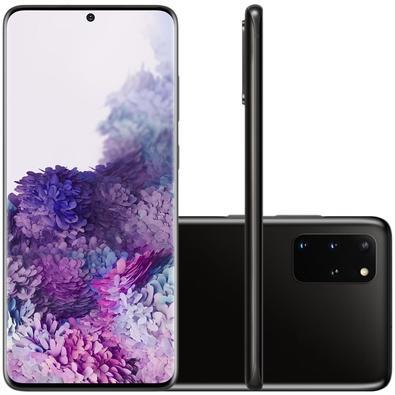 Smartphone Samsung Galaxy S20+, 128GB, 64MP, Tela 6.7´, Cosmic Black + Capa Protetora - SM-G985FZKJZTO