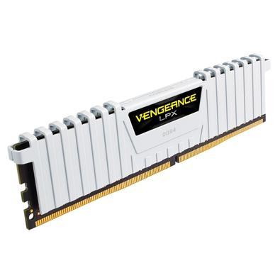 Memória Corsair Vengeance LPX 32GB (4x8GB) 3200Mhz DDR4 C16 White - CMK32GX4M4B3200C16W