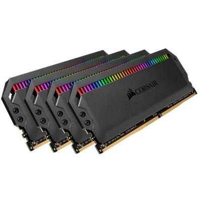 Memória Corsair Dominator RGB 64GB (4x16GB) 3466MHz  DDR4  C16 Black - CMT64GX4M4C3466C16