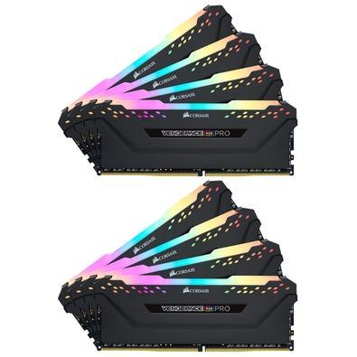 Memória Corsair Vengeance RGB Pro 128GB (8x16GB) 3600MHz DDR4 C18 Black - CMW128GX4M8X3600C18