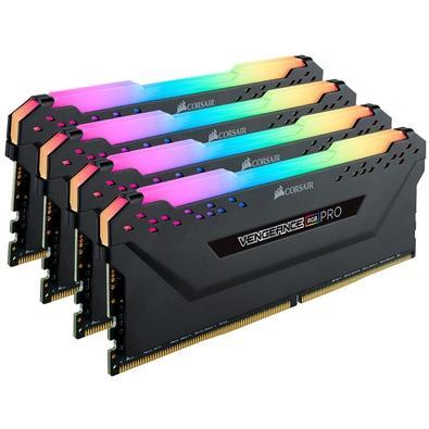 Memória Corsair Vengeance RGB Pro 32GB (4x8GB) 2666MHz DDR4 C16 Black - CMW32GX4M4A2666C16