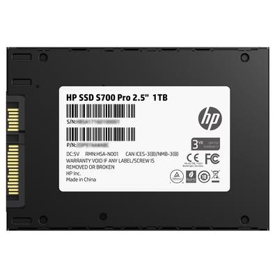 SSD HP S700 Pro, 1TB, SATA, Leituras: 570Mb/s e Gravações: 525Mb/s - 2LU81AA#ABL