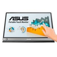 Monitor Portátil Asus LED 15.6´, Touch, Full HD, IPS, USB-C, Micro HDMI, Ultra Leve, Cinza Escuro - MB16AMT