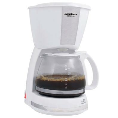 Cafeteira Elétrica Britânia CB15 Inox, 15 Xícaras, 550W, 220V, Branca - 63902062