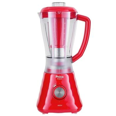 Liquidificador Philco PH800, 4 Velocidades, 900W, 110V, Vermelho - 103101040
