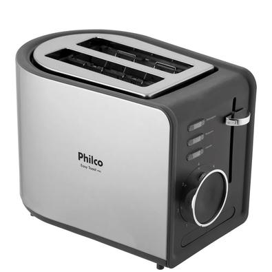 Torradeira Philco Easy Toast PTR2, 7 Níveis de Tostagem, 110V, Preta/Inox - 56201006