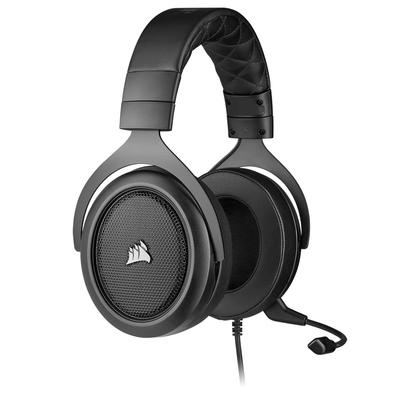 Headset Gamer Corsair HS50 PRO P2, Stereo 2.0, Drivers 50mm, Carbono - CA-9011215-NA
