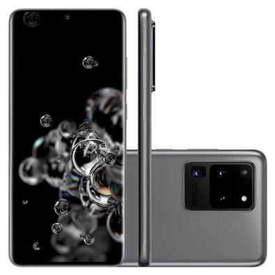 Smartphone Samsung Galaxy S20 Ultra, 128GB, 108MP, Tela 6.9´, Cosmic Gray + Capa Protetora - SM-G988B/1DLA