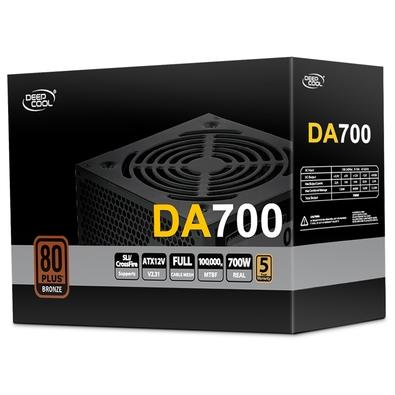 Fonte DeepCool DA700, 700W, 80 Plus Bronze - DA700