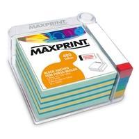 Bloco Adesivo Maxprint, 400 folhas (76x76mm), com Porta-Blocos - 741963