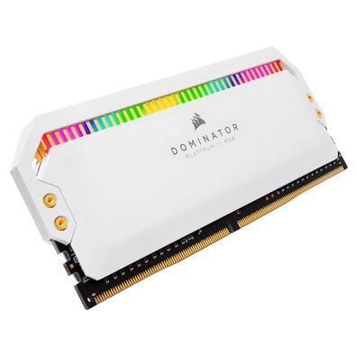 Memória Corsair Dominator Platinum 16GB (2x8GB), 3200Mhz, DDR4, C16, Branca - CMT16GX4M2C3200C16W