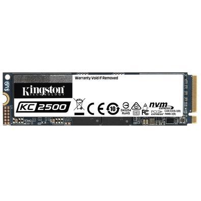 SSD Kingston KC2500, 250GB, M.2 NVMe, Leitura 3500MB/s, Gravação 1200MB/s - SKC2500M8/250G