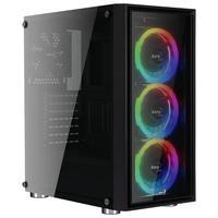 Gabinete Gamer AeroCool Quartz Revo RGB, Mid Tower, com FAN, Lateral e Frontal em Vidro - 67545