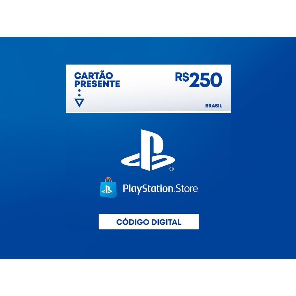 Gift Card PlaystationStore: 250,00 Reais - Código Digital