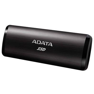 SSD Externo Adata, 512GB, USB 3.2 Gen 2 com Type C, Leitura de Até 1000MB/s, Preto - ASE760-512GU32G2-CBK