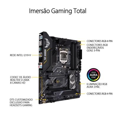 Placa-Mãe Asus Tuf Gaming H470-Pro, Intel H470, ATX, DDR4