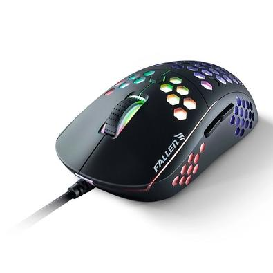 Mouse Gamer Fallen Ultraleve F75, RGB, Preto