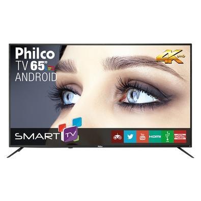 "Tv 65"" Led Philco 4k - Ultra Hd Smart - Ptv65a11dsgwa"
