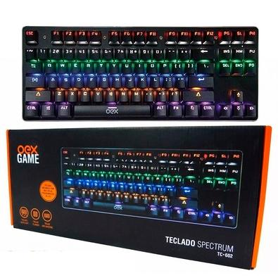Teclado Gamer Oex Game Spectrum Reloaded, LED, Switch Outemu Blue, ABNT2 - TC 602