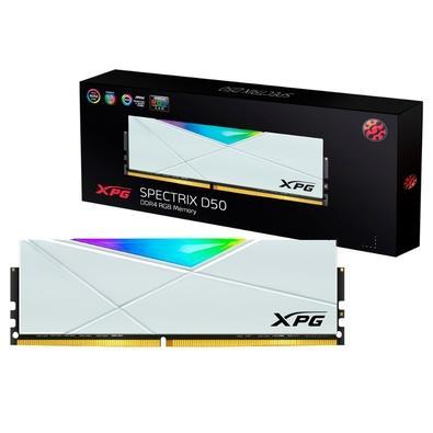 Memória XPG Spectrix D50, RGB, 32GB (2x16GB), DDR4, 3000MHz, CL16, White - AX4U3000716G16A-DW50