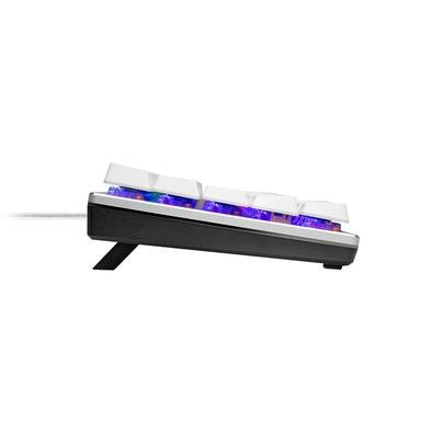 Teclado Mecânico Compacto Cooler Master SK620, RGB, Switch Low Profile Blue, US, Prata/Branco - SK-620-SKTL1-US