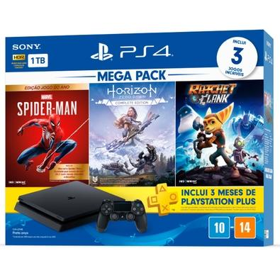Console Sony PlayStation 4 Mega Pack 15, 1TB, Horizon Zero Dawn Complete Edition + Marvel's Spider-Man + Ratchet & Clank - CUH-2214B