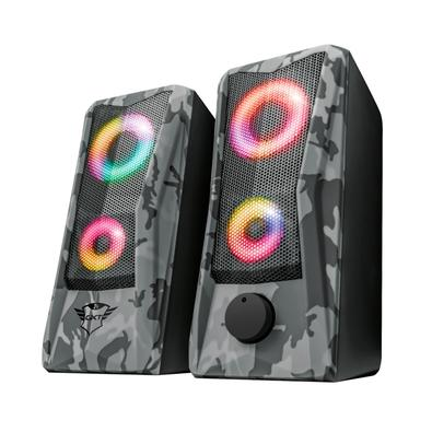 Caixa de Som Gamer Trust GXT 606 Javv 2.0, RGB, 6W RMS, USB, Camuflada - 23379