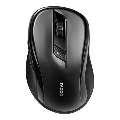 Mouse sem fio Rapoo M500, 2.4 Ghz, 3 Botões, 1600 DPI, Preto - RA013