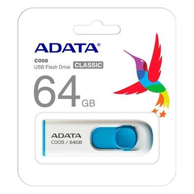 Pen drive Adata AC008, 64GB, USB 2.0, Azul - AC008-64G-RWE