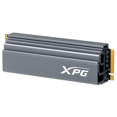 SSD XPG GAMMIX S70, 1TB, M.2 PCIe, Heatsink, Leituras: 7400Mb/s e Gravações 5500Mb/s - AGAMMIXS70-1T-C