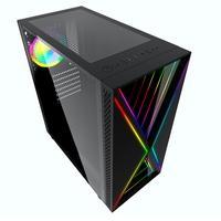 Gabinete Gamer Bluecase BG-034 Pulse, LED RGB, Lateral em Vidro Temperado, Preto - BG034GCASE
