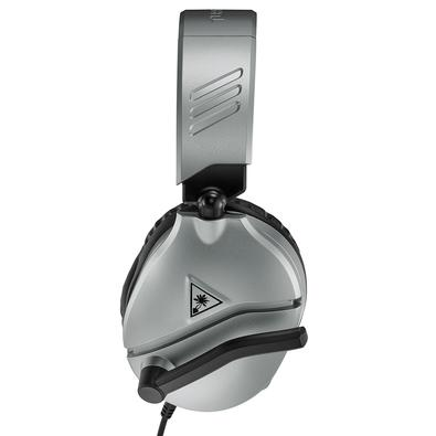 Headset Gamer Turtle Beach Recon 70P, Compatível com PS4 PS5 PC Xbox One Nintendo Switch e Mobile, Drivers 40mm, Prata - TB70PP0006