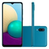Smartphone Samsung Galaxy A02, 32GB, RAM 2GB, Quad-Core, 13MP, Azul - SM-A022MZBRZTO