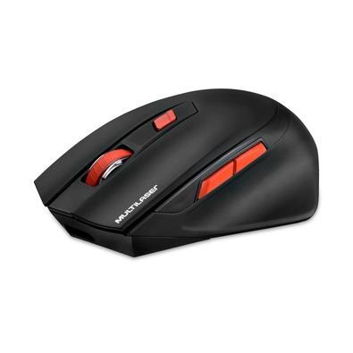 Mouse Sem Fio Gamer Multilaser, 2400 DPI, 6 Botões - MO295
