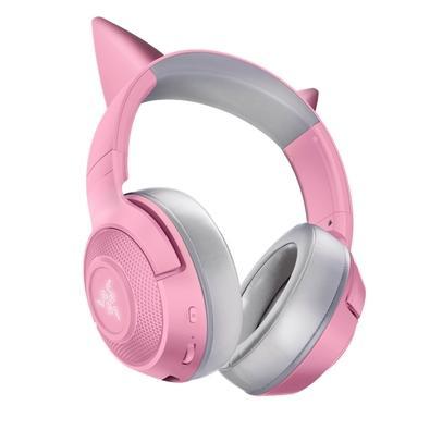 Headset Gamer Sem Fio Razer Kraken BT Kitty, Chroma, Drivers 40mm, Quartz Pink - RZ04-03520100-R3U1
