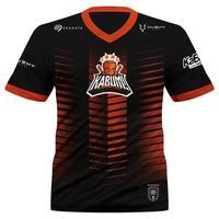 Camiseta Uniforme Oficial KaBuM! e-Sports 2021 Husky Gaming, Preta e Laranja, Dry-Fit, Proteção UV 50+, Tamanho P
