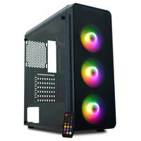 Gabinete Gamer K-Mex A1G8 Infinity A1, 3x Fans Frontais ARGB, Painel Lateral em Acrílico, Preto - CGA1G8RH011CB0X