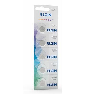 Bateria Lítio Elgin Blister CR1632, 5 Unidades - ELE000000082340