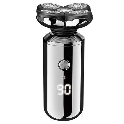 Barbeador Elétrico Relaxmedic Multiuso 5 em 1, Lâmina Dupla, Display LED, Resiste à Respingos, Bateria Recarregável USB, Prata - RB-AM6800A
