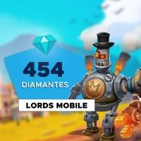 Gift Card Digital Lords Mobile - 454 Diamantes